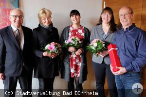 Verabschiedung Mitarbeiter und ein Jubiläum bei der Stadtverwaltung Bad Dürrheim