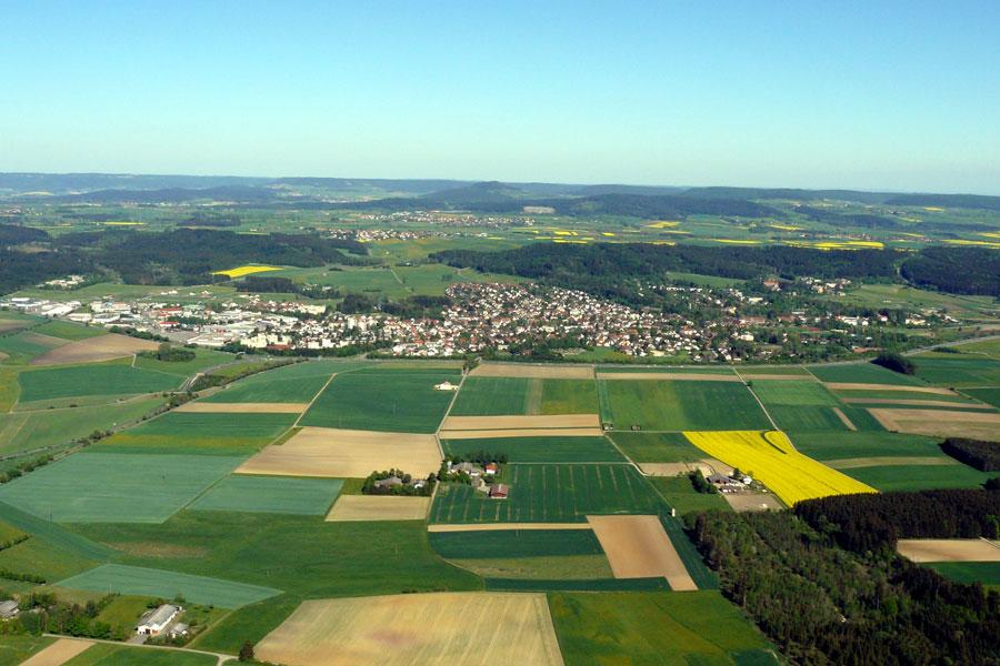 Blick auf die Kernstadt Bad Dürrheim
