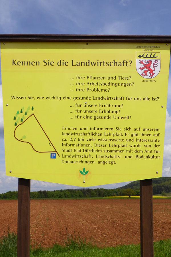 Landwirtschaftlicher Lehrpfad im Stadtteil Öfingen
