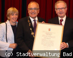Bürgermeister Walter Klumpp zum Ehrenbürger ernannt