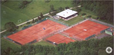 Tennisanlage aus der Luft