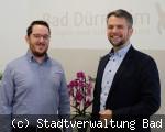 Stadtverwaltung Bad Dürrheim - neue Mitarbeiter Matthias Schwarz und Alexander Stengelin
