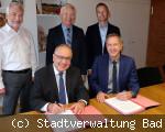 Unterzeichnung Vereinbarung Bad Dürrheim und Brigachtal