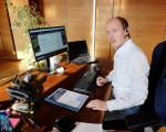 Bürgermeister Jonathan Berggötz im Krisenmanagement