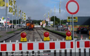 Sanierung Kreuzung Gewerbegebiet