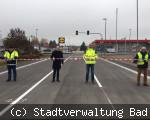Kreuzung Gewerbegebiet geöffnet