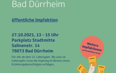 Plakat zum Mobilen Impfteam 25.10.2021