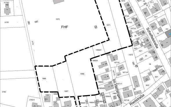 Bebauungsplan Herrengarten, Plan