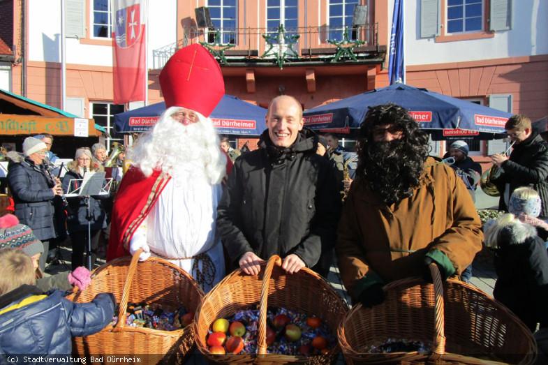 Eröffnung des Christkindlemarkts durch Bürgermeister Walter Klumpp