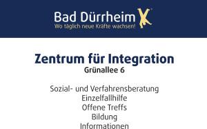 """Schild """"Zentrum für Integration"""""""