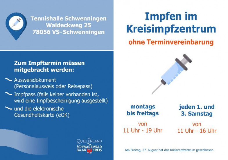 Impfen im Kreisimpfzenrum ohne Termin